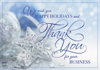 Thankful Stars Holiday Cards For Your Business