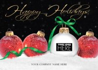 Holiday Display Logo Holiday Cards