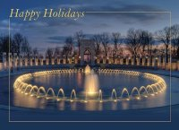 Washington WWII Memorial Holiday Card