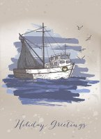 Fishing Boat Christmas Card