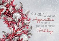 Lustrous Appreciation Holiday Cards
