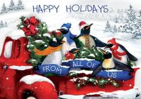 Penguin Posse Holiday Cards
