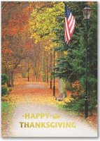 Patriotic Thanksgiving Holiday Card
