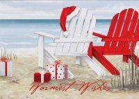 Warm Wishes Beach Holiday Card