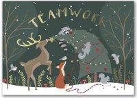 Team Achievement Colorful Teamwork Holiday Card