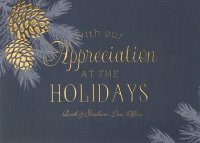 Pinecone Appreciation Distinctive Holiday Card
