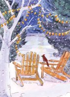 Adirondack Chairs Charity Holiday Cards supporting the National Alliance to End Homelessness