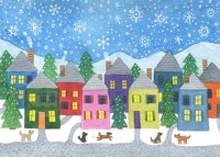 Rainbow Village Charity Holiday Card supporting the National Alliance to End Homelessness