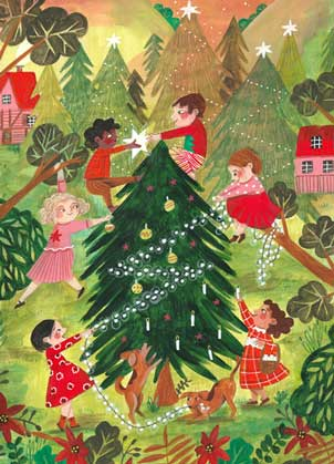 Lets Decorate Holiday Charity  Card supporitng Prevent Child Abuse America