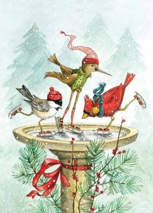 Frolic on Ice Charity Holiday Card supporting the Environmental Defense Fund