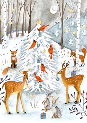 Woodland Wildlife Charity Holiday Card supporting the Environmental Defense Fund