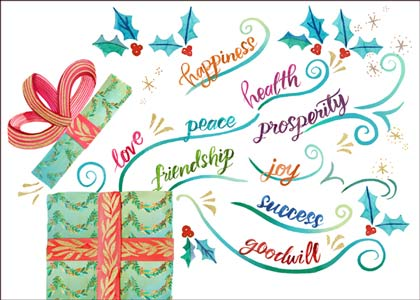 Holiday Wishes Charity Holiday Card supporting Breast Cancer Prevention Partners