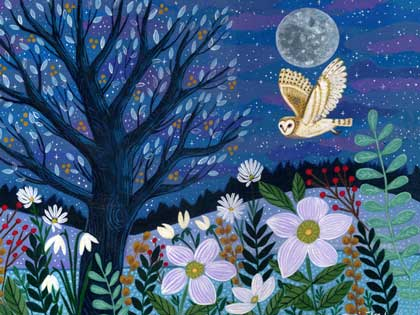 Night Owl Charity Holiday Card supporting Breast Cancer Prevention Partners