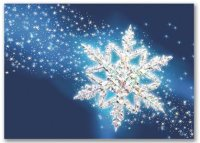 Spectacular Snowflake Holiday Card