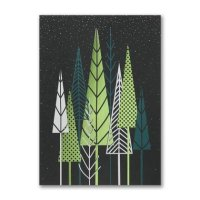 Festive Treeline Christmas and Holiday Cards