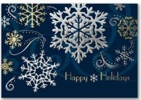 Stylish Holiday Festive Snowflake Holiday Card
