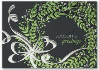 Whimsical Wreath Christmas Holiday Card