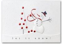 Snowman Fun Christmas Holiday Card