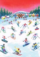 Skiers' Delight (PCAA1033) Charity Holiday Card