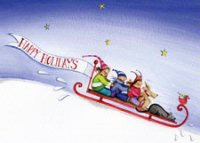 Holiday Rush (FA1106) Charity Holiday Card