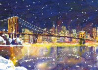 City Bridge (FA1108) Charity Holiday Cards