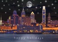 Philadelphia Evening Holiday Card