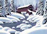 Covered Bridge (ED1228) Charity Christmas Card