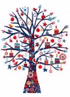 Celebration Tree (BCF1219) Charity Holiday Card