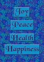 Joy Peace Health Feeding America Charity Holiday Cards