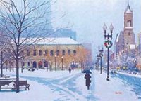 Copley Square Boston Winter