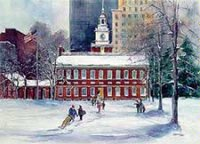 Philadelphia and Independence Hall Holiday Card
