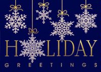 Haning Around Snowflakes Holiday Card