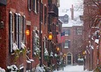 Fresh Snowfall on Beacon Hill Christmas Card