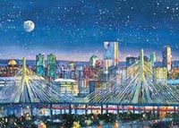 Boston's Zakim Bridge Holiday Card