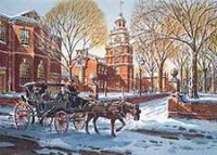 Philadelphia's Liberty Trot Holiday Card