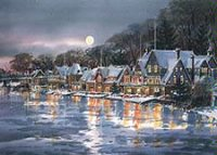 Philadelphia's Boathouse Glow Business Holiday Card