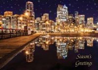 Seattle Oasis Boardwalk Holiday Card