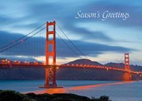 San Francisco Golden Gate Bridge Blue Twilight Holiday Car