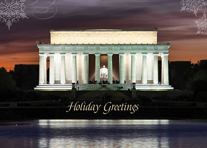Lincoln Memorial Evening Greeting Card