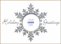 Prismatic Snowflake with company logo holiday card