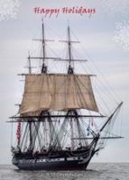Old Ironsides Boston Holiday Card