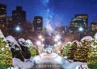 Starry Night over Boston Holiday Card