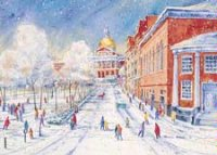 Boston Park Street Winter Holiday Card