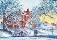 Fresh Snow on Beacon Hill Holiday Card