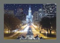 Philadelphia City Hall Holiday Card