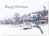 Philadelphia Rowers Winter Slumber Holiday Card