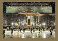 National Gallery of Art Ice Skaters Holiday Card