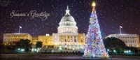 US Capitol Holiday Panorama Card