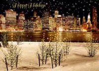 Manhattan Snowfall Holiday Card