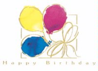 Tied Baloons Birthday Card